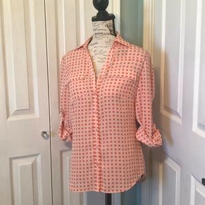 Long sleeved button up blouse